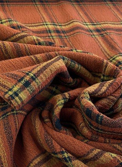 roest carré -  mooie winterse viscose crepe