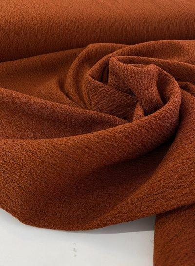 roest krijtstreep -  mooie winterse viscose crepe
