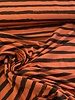 marsala groovy stripes - french terry