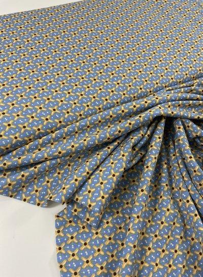La Maison Victor yellow little flowers - viscose tricot