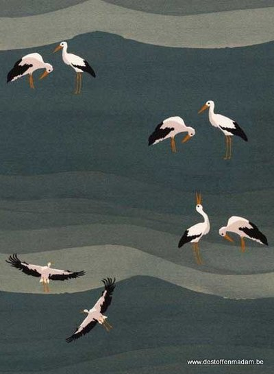 Swafing stork - viscose jersey
