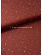 La Maison Victor little feathers - viscose twill