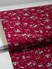 burgundy grey little flowers - viscose