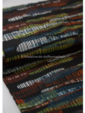 bruin gekleurde streepjes - viscose