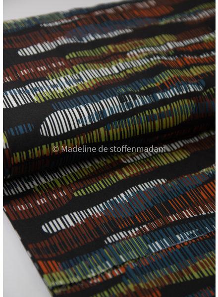 brown colored stripes - viscose