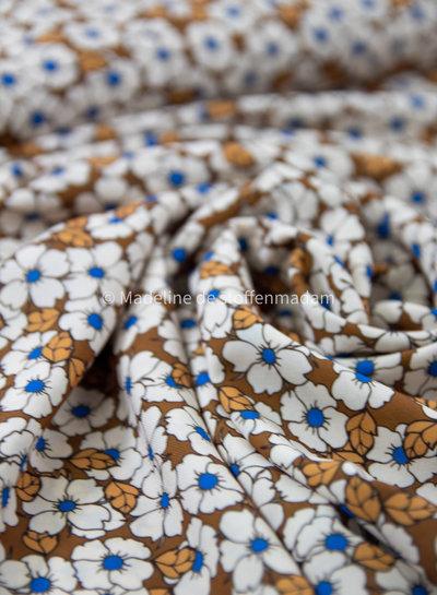 A La Ville blauwe margrietjes - viscose