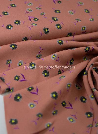 pink little flowers - viscose