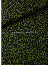 green leopard - viscose crepe