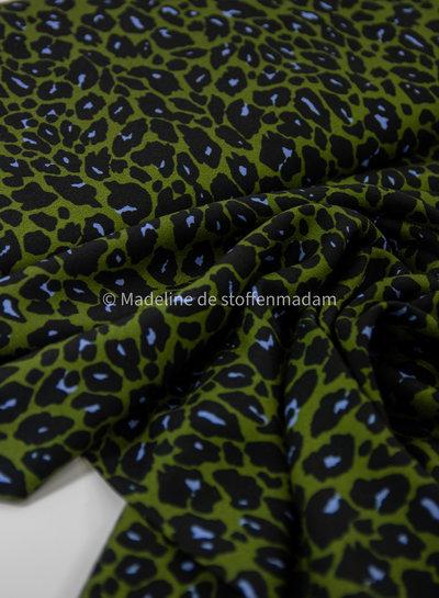 groen luipaard - viscose crepe