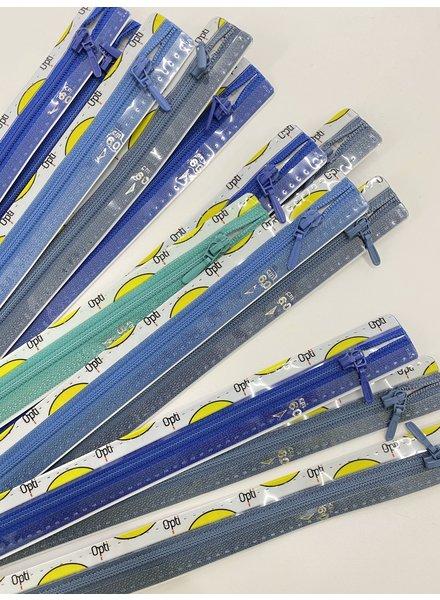 Stockverkoop pakket met 5 ritsen - 60 cm niet deelbaar