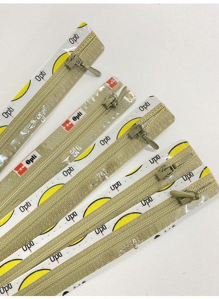 Stocksale 5 zippers 55 cm.