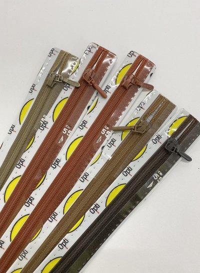 Stockverkoop pakket met 5 ritsen - 55 cm niet deelbaar