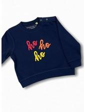 By Madeline Ho-ho-ho blauw - sweater baby/kids