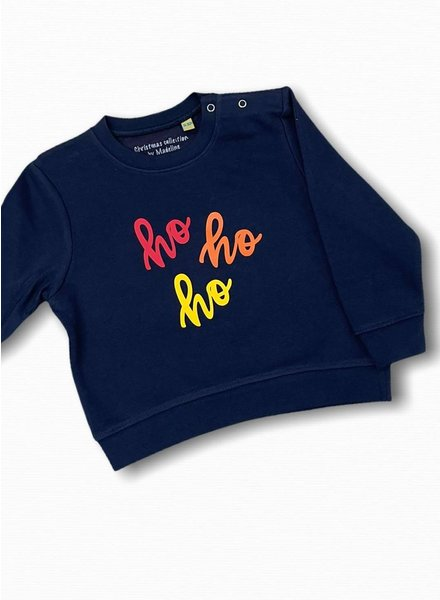 By Madeline Ho-ho-ho blue - sweater baby/kids
