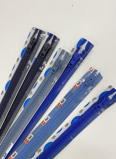 stocksale 5 divisible zippers - 75cm