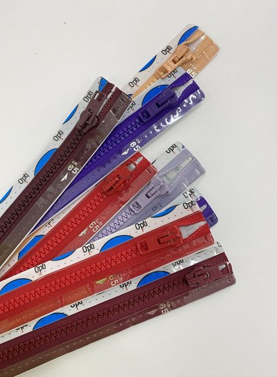 stocksale 5 divisible zippers - 65cm