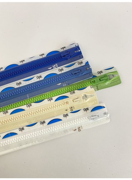 stocksale 5 divisible zippers - 50cm