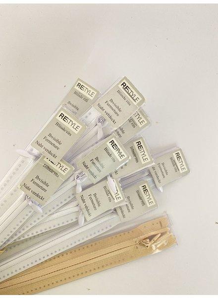 stocksale invisible zipper - 10 x 22 cm