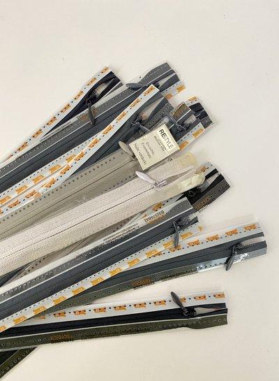 Stockverkoop pakket met 10 blinde ritsen - 22 cm (naadrits)