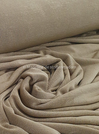 Fibremood soft gold shining knitted fabric - fibre mood