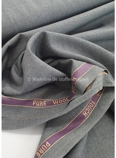 grijs wol touch soepelvallende klassieke stof
