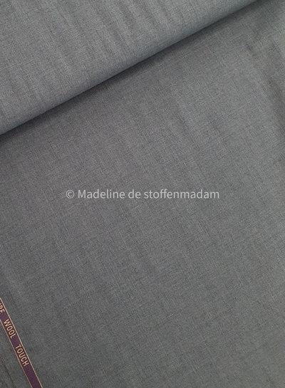 grijs wol touch - bamboe - kreukt niet