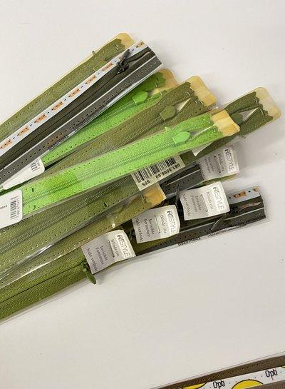 Stockverkoop pakket met 10 blinde ritsen - 60 cm (naadrits)