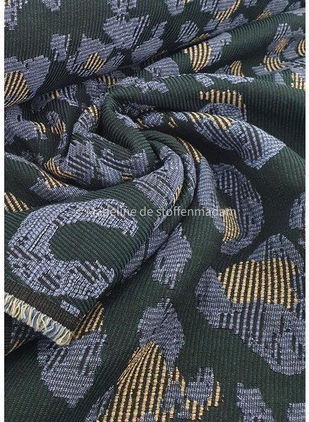 green diagonal - soft woven jacquard