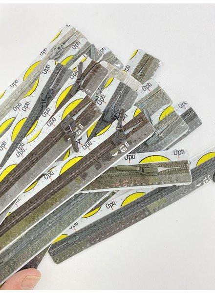 Stocksale 5 zippers 15 cm.
