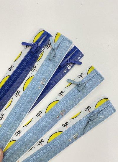 Stocksale 5 zippers 18 cm.