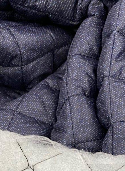 La Maison Victor marine matte gewatteerde voeringstof voor jassen