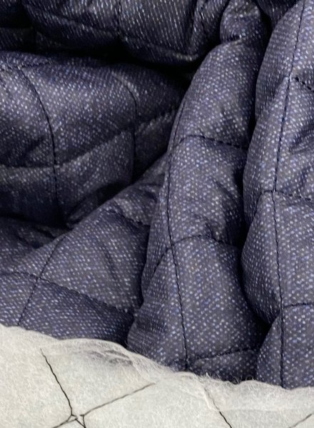 La Maison Victor navyblue quilted lining for jackets