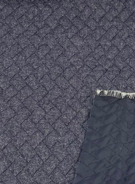 La Maison Victor denim - doorstikte en gewatteerde jassenstof - double face