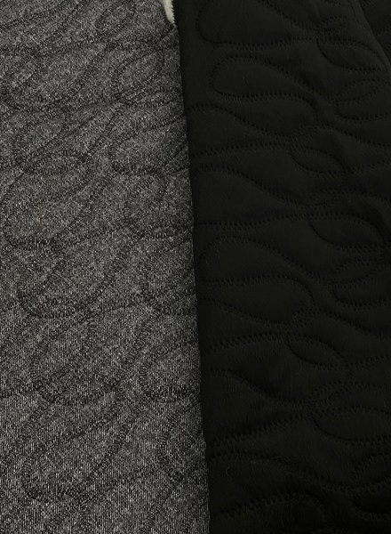 carcoal quilted fabric for jackets or lining - double face