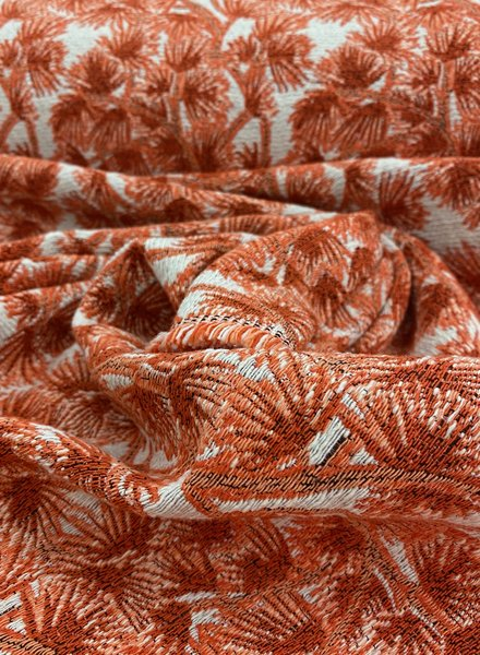 trees coral - woven jacquard