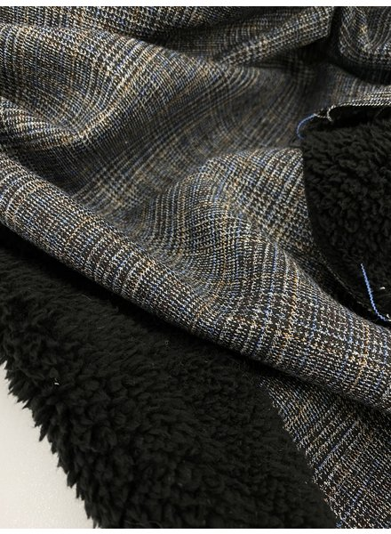 La Maison Victor beautiful coat fabric with black teddy on the inside