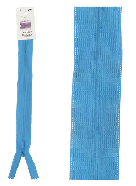 invisible zipper -  turquoise color 549