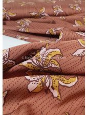 brown flowers - satin
