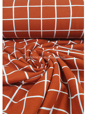 squares rust - soft sweater gots label