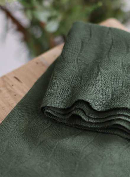 Mind The Maker green khaki - organic leaf jacquard