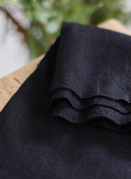 Mind The Maker black - organic leaf jacquard