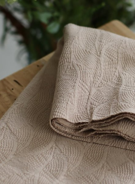Mind The Maker dune - organic leaf jacquard
