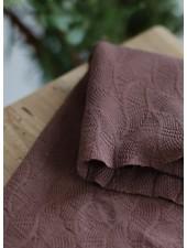 Mind The Maker dust brown - organic leaf jacquard
