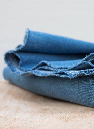 Mind The Maker mid blue - heavy  washed denim, 12.5 OZ