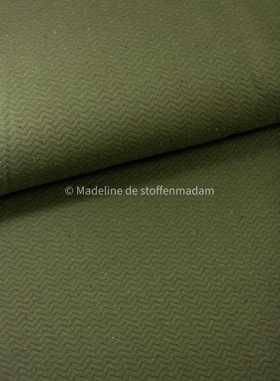 chevron quilt groen