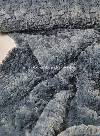 fluffy / imitatie vacht / pels grijsblauw