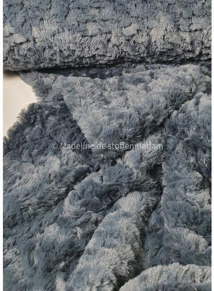 imitation fur / greyblue