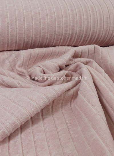 pink ribbed knitted recycled