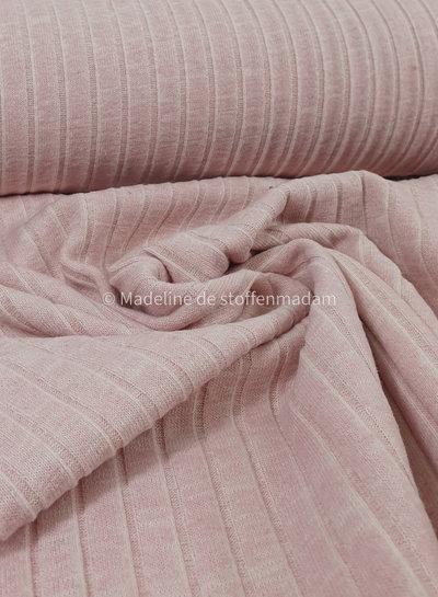 roze melee ribbel gebreide stof