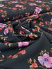 zwart magnolia - soepelvallende stof - licht rekbaar